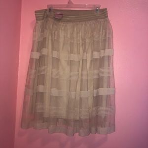 Dresses & Skirts - Tan Dressy Sheer Skirt